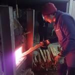 [穴窯体験:窯焚き]ガスと割木